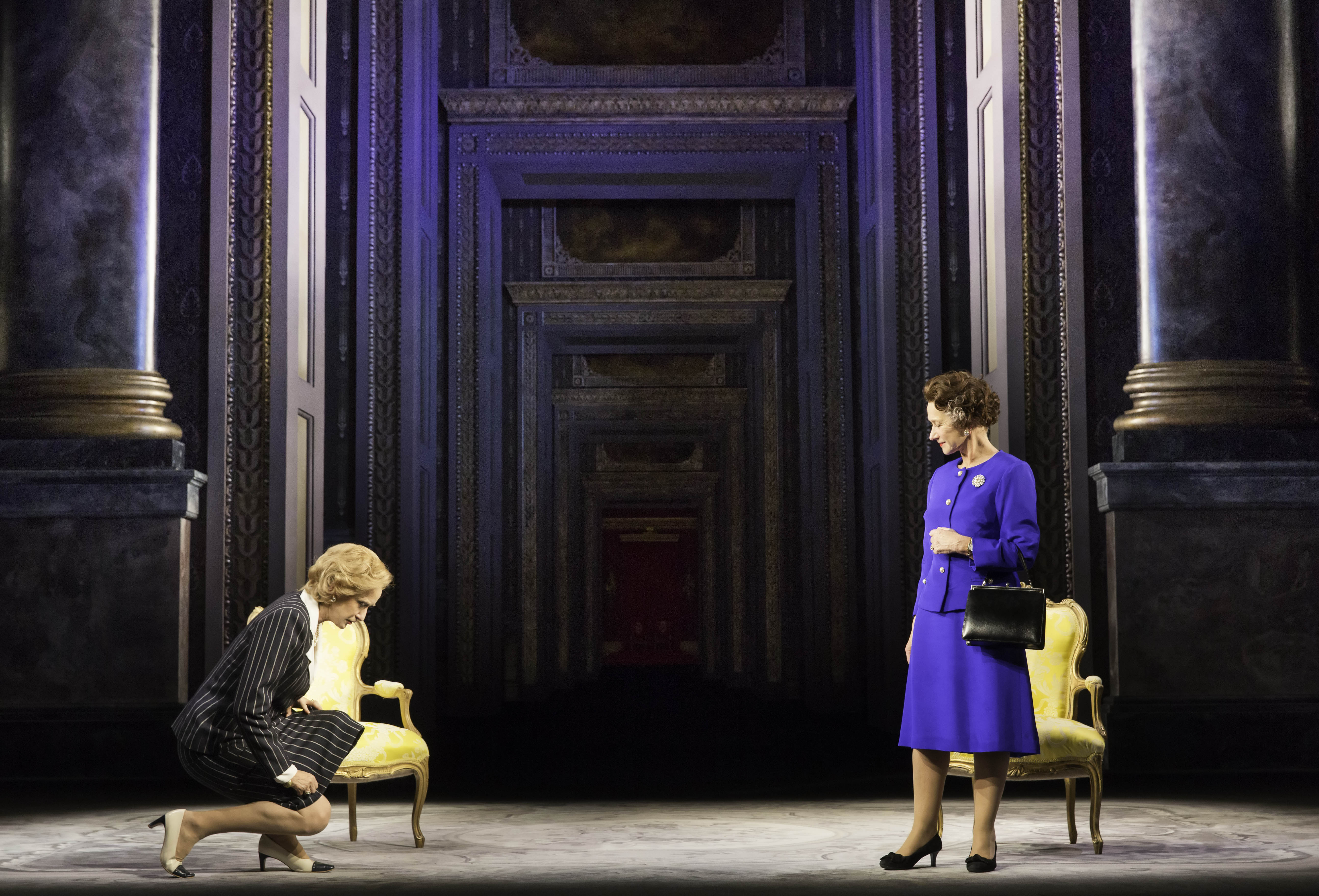Margaret Thatcher (Haydn Gwynne) and Queen Elizabeth II (Helen Mirren)
