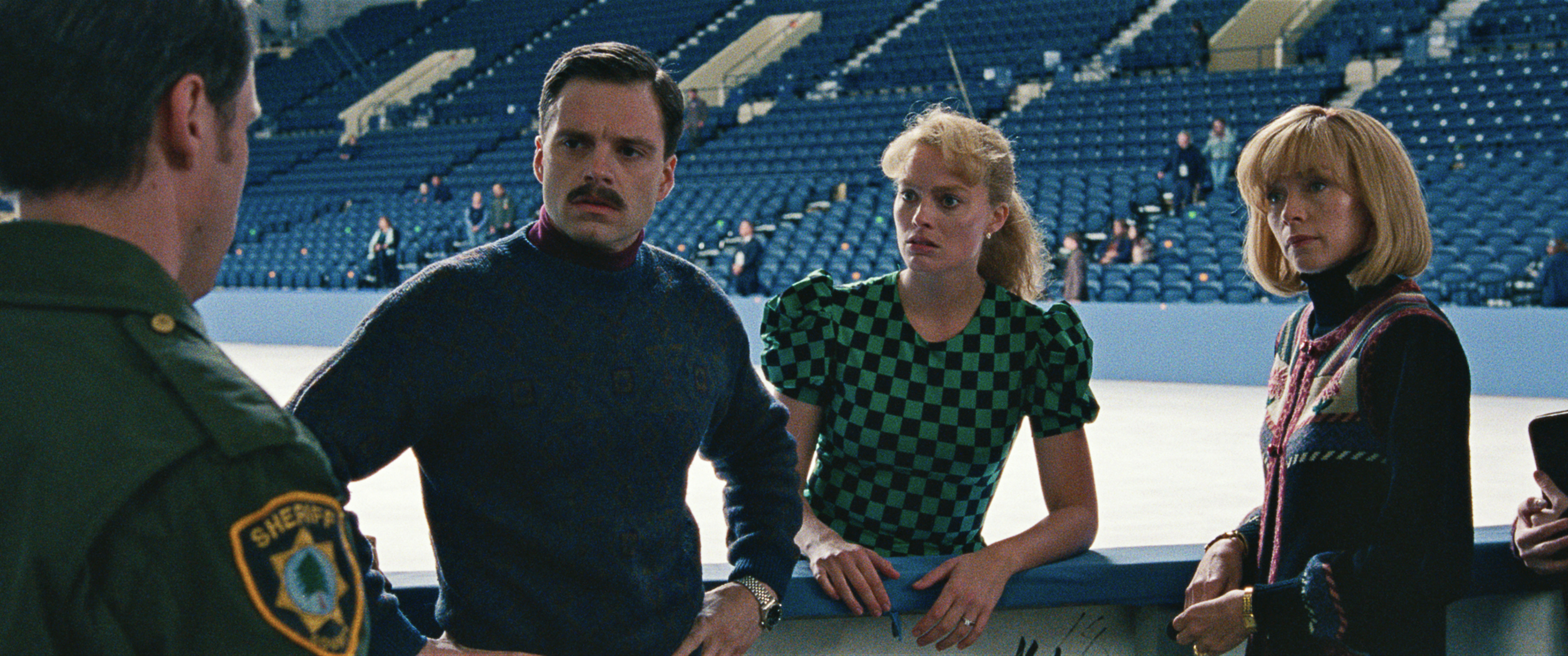 10- Jeff Gillooly (Sebastian Stan), Tonya Harding (Margot Robbie) and Diane Rawlinson (Julianne Nicholson) in I, TONYA, courtesy of NEON and 30WEST